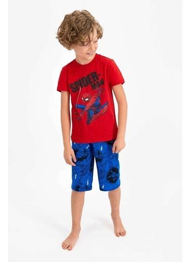 Spider-Man Spider Man Lisanslı Kırmızı Erkek Çocuk Kapri Takım Kırmızı